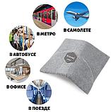 Подушка-шарф для путешествий Travel Pillow Gray, фото 6