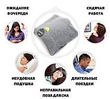 Подушка-шарф для путешествий Travel Pillow Gray, фото 4