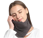 Подушка-шарф для подорожей Travel Pillow Gray, фото 5