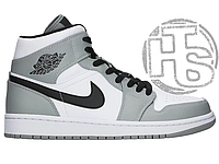 Мужские кроссовки Air Jordan 1 Mid Light Smoke Grey White 554724-092