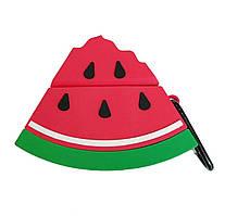 Чехол Smile Fruits series (+ карабин) к наушникам Apple AirPods (Watermelon)