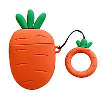 Чехол Smile Fruits series (+ кольцо) к наушникам Apple AirPods (Carrot)