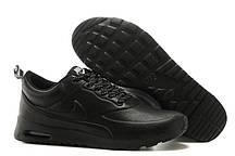 Кроссовки черные кожаные мужские Nike Air Max 90 Thea Leather