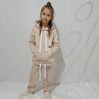 Тёплый спортивный костюм для девочки 140