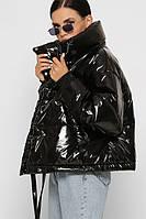 Куртка пуховик зимняя женская гиперсайз тренд 2020 объемная спортивная черная