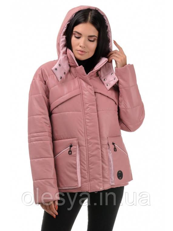 Куртка женская демисезонная Бланш, цвет роза-пудра, размеры 42 - 48