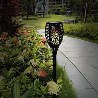 Садовый светильник Факел [Flame Light] с имитацией огня ---> на солнечной батарее --->водонепроницаемый