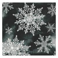 Салфетка Снежинки (серый фон)   2-7476
