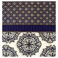 Салфетка Синий орнамент 25 см 2-7867