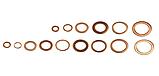 Набор медных колец 150 шт. GEKO G02807, фото 2