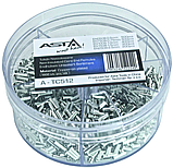 Набір металевих наконечників на дроти 1900 шт. ASTA A-TC512, фото 3