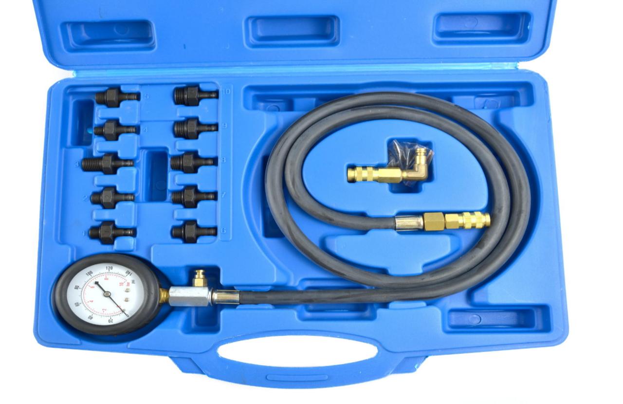 Тестер давления масла (увеличеный набор) GEKO G02507