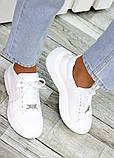 Шкіряні білі кросівки 7478-28, фото 3