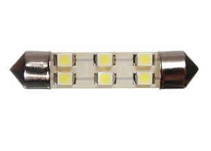 Светодиодная софитная автолампа T10, 40-42mm, 6pcs 3528 (36 Lm)