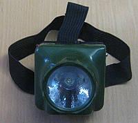Фонарь налобный аккумуляторный на 1 диод