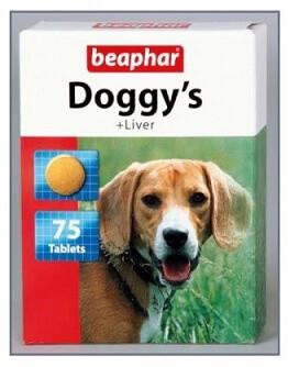 Витамины для собак BEAPHAR DOGGY ливер 75 таб