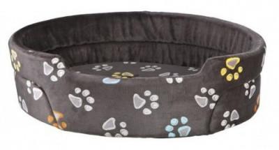 Мягкое место-лежак для собак Jimmy Trixie 85х75 см серый с лапками