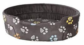 М'яке місце-лежак для собак Jimmy Trixie 85х75 см сірий з лапками