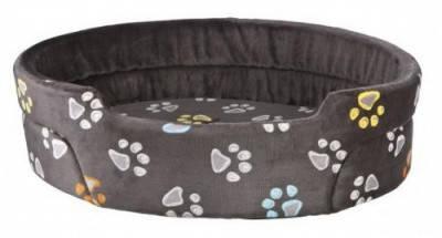 Мягкое место-лежак для собак Jimmy Trixie 85х75 см серый с лапками, фото 2