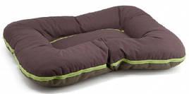 Лежак для собак двосторонній Arnold Comfy, L 70x55 см, коричнево-оливковий