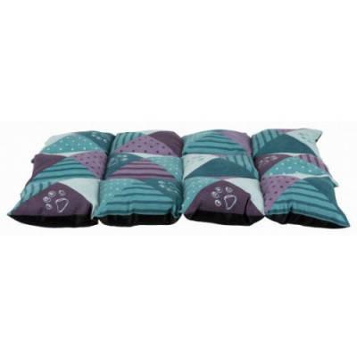 Матрас -лежанка для собак и кошек Patchwork Trixie 70х50 см, синий-пурпурный, жаккард, фото 2