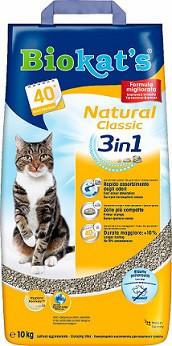 Песок Biokats Natural (3in1) Наполнитель для котов 10 кг