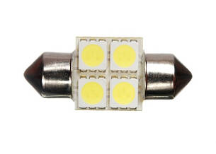 Светодиодная софитная автолампа T10, 31mm, 4pcs 5050 (72 Lm)