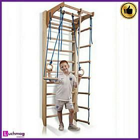 Детский спортивный деревянный уголок «Комби-2-220» ТМ SportBaby для детей от 6 лет
