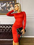Платье женское трикотажное длинное карандаш с рукавом, фото 5