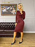 Сукня трикотажне жіноче довге олівець з рукавом, фото 9