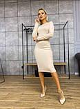 Платье женское трикотажное длинное карандаш с рукавом, фото 10