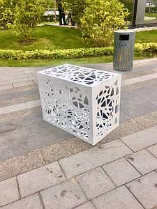 Декоративна решітка для кондиціонера антивандальна ArtMetalGroup Koral Cover (сталь 1,5 мм, 500х850х650 мм)