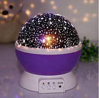 Нічник-проектор зоряного неба обертовий NEW Projection Lamp StarMaster, фото 1
