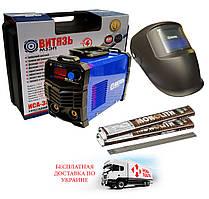 Зварювальний інвертор Витязь ІСА 380И + маска зварювальника (хамелеон)+2кг електродів 3мм+валіза
