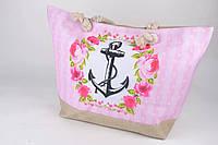 Женская пляжная сумка с красивым рисунком