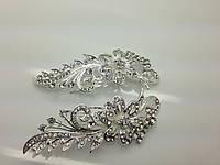 Свадебные гребни с цветком со стразми бижутерии RRR. 199