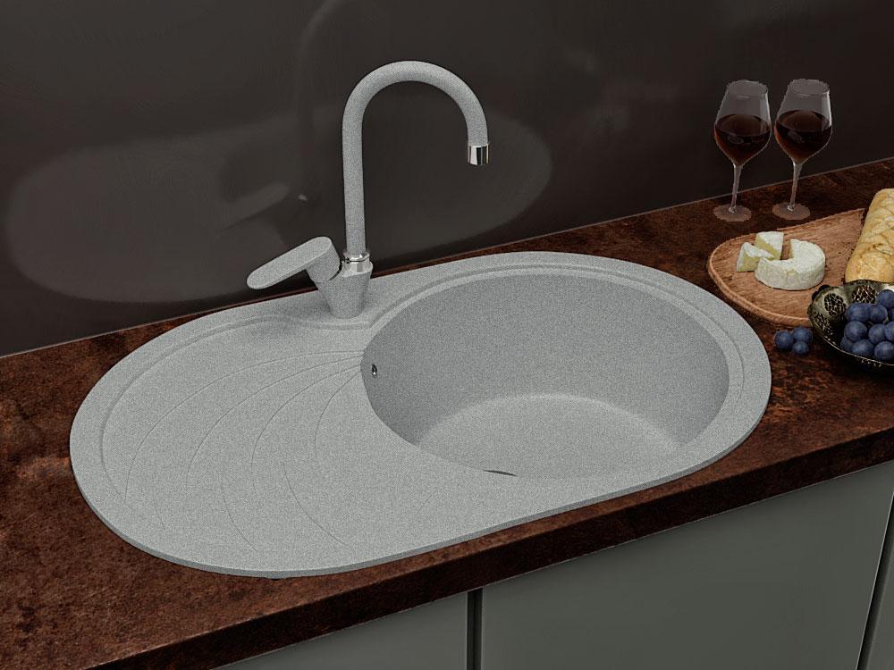 Кухонна мийка VALENTINA Gr Moderna сірий