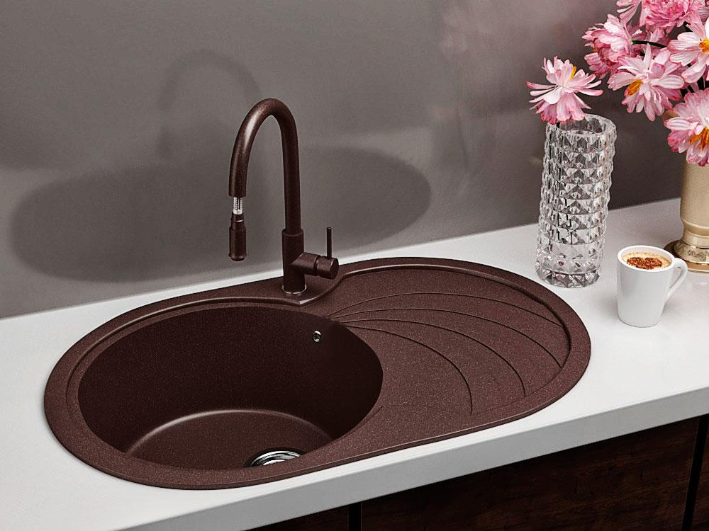 Кухонна мийка VALENTINA Gr Moderna коричневий