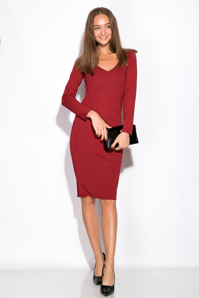 Платье 110P500 (Бордовый)