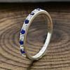 Серебряное кольцо ТС510168 вставка синие фианиты вес 1.2 г размер 15.5, фото 4