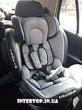 Детское автокресло с системой Isofix от рождения до 12 лет, El Camino Evolution 360º Royal Gray светло-серый, фото 2