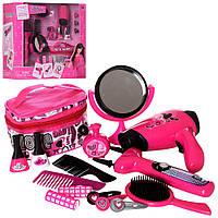 Набір перукаря BE2023 фен, дзеркало, косметичка, гребінець, лак, бат., кор., 37-34-16 см.