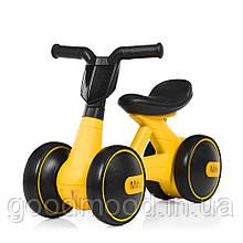 Толокар M 4086-6 мотоцикл, муз., світло, кольорова коробка, жовтий.