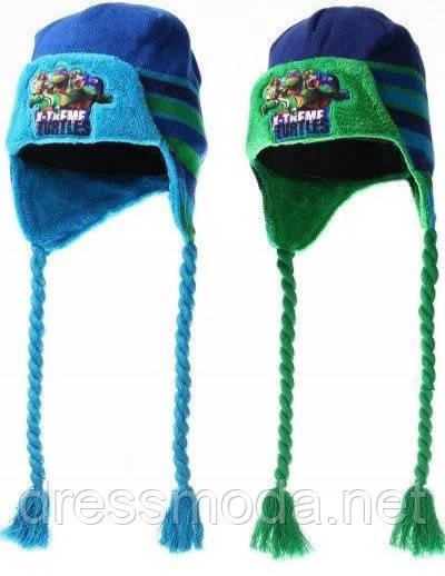 Шапки-ушанки для мальчиков Turtles