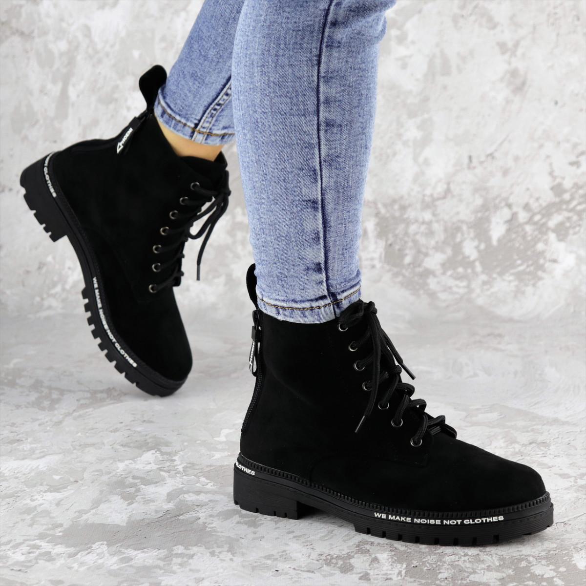 Ботинки женские Fashion Char 2191 38 размер 24,5 см Черный