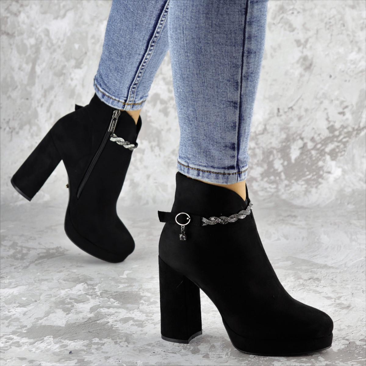 Ботинки женские Fashion Susan 2220 35 размер 23 см Черный