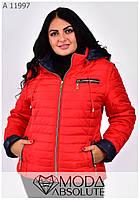 Яркая осенняя куртка для модницы размеры 42-70