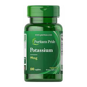 Калий глюконат Puritan's Pride Potassium 99 mg (100 капс) пуританс прайд