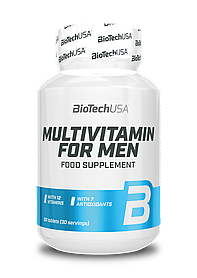Вітаміни для чоловіків BioTech Multivitamin for men (60 таб) биотеч мультивітамін фор мен