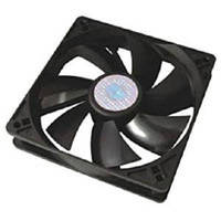 Вентилятор чорний пластиковий 60х60 (12V) GAV 382